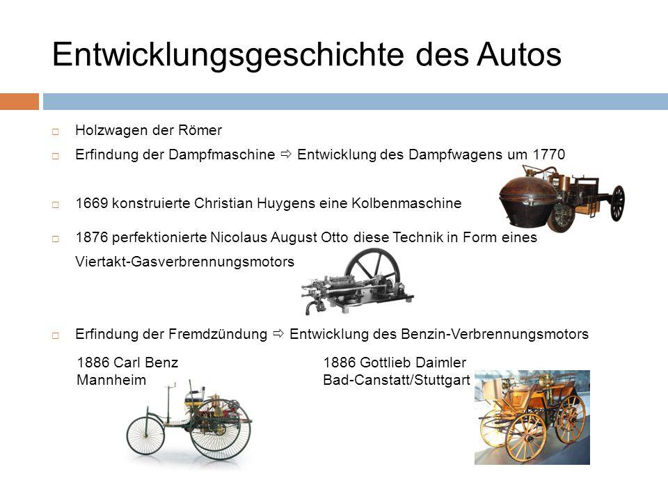 Entwicklungsgeschichte des Autos