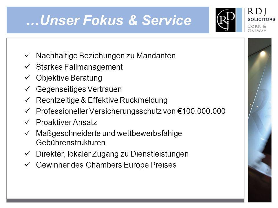 …Unser Fokus & Service Nachhaltige Beziehungen zu Mandanten