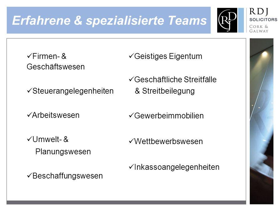 Erfahrene & spezialisierte Teams
