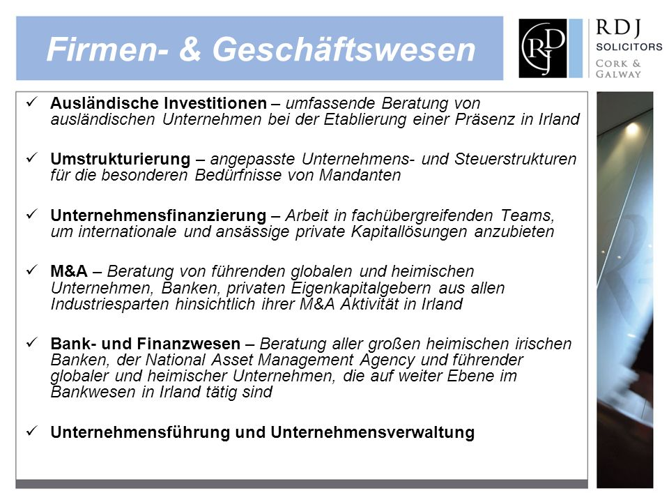 Firmen- & Geschäftswesen