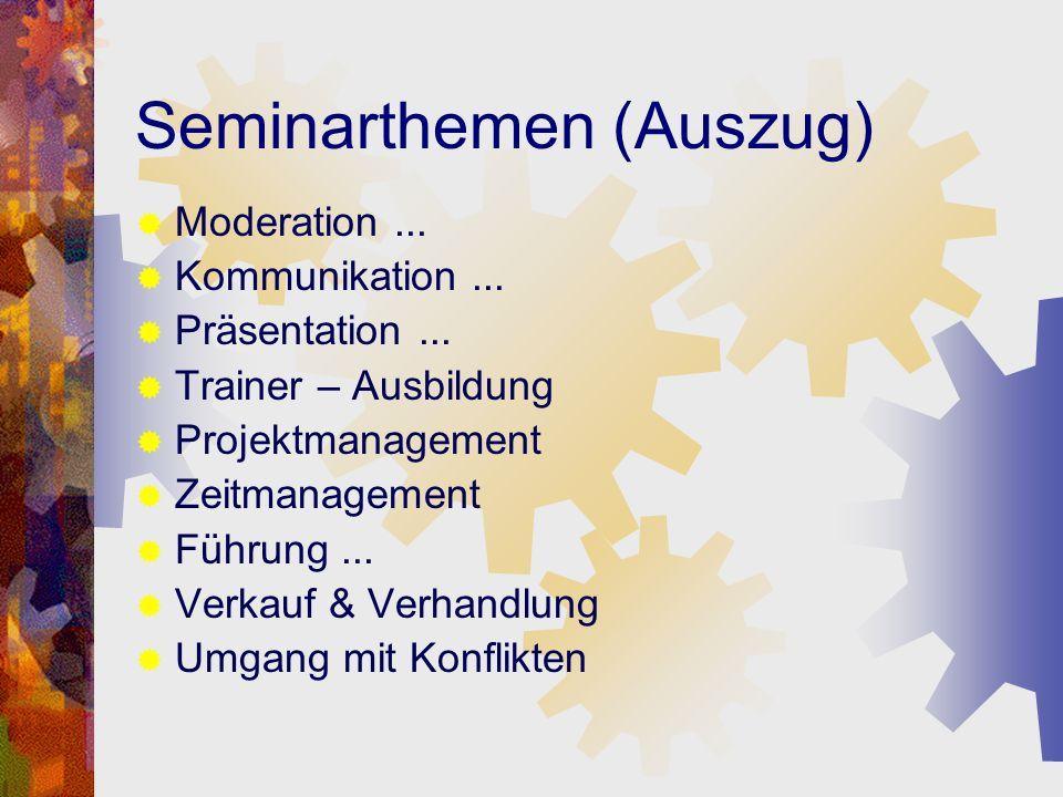 Seminarthemen (Auszug)