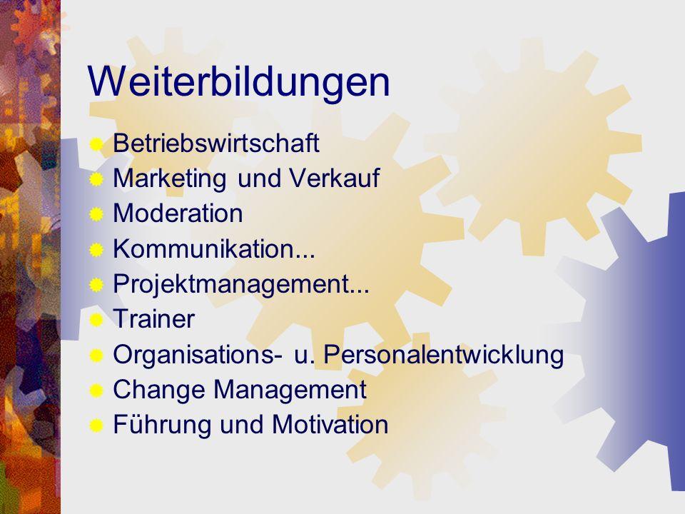 Weiterbildungen Betriebswirtschaft Marketing und Verkauf Moderation
