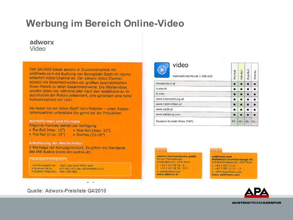 Werbung im Bereich Online-Video