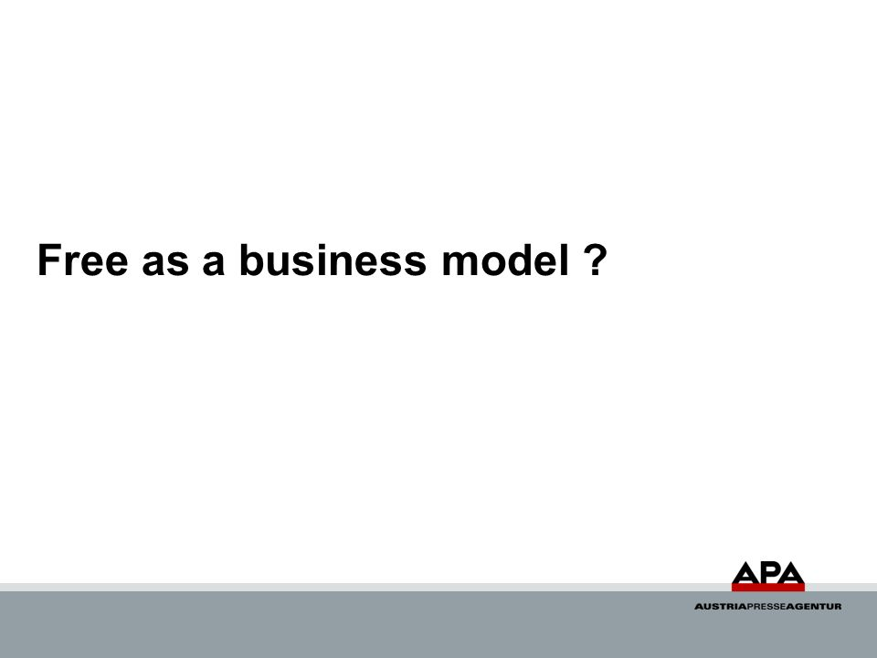 Free as a business model