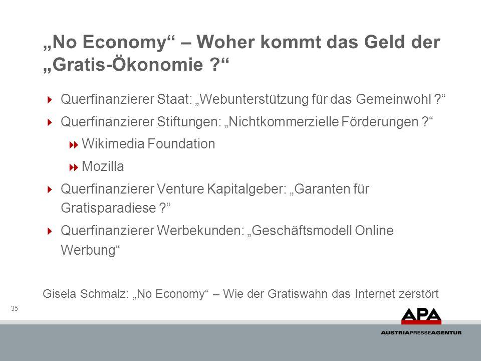 """""""No Economy – Woher kommt das Geld der """"Gratis-Ökonomie"""