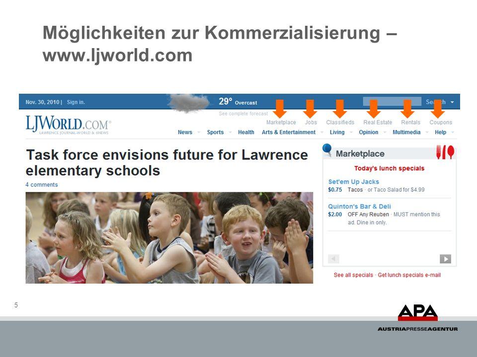 Möglichkeiten zur Kommerzialisierung – www.ljworld.com