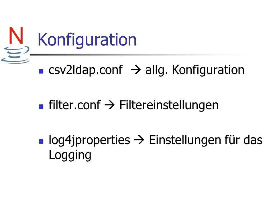 Konfiguration csv2ldap.conf  allg. Konfiguration