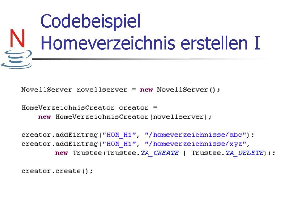 Codebeispiel Homeverzeichnis erstellen I