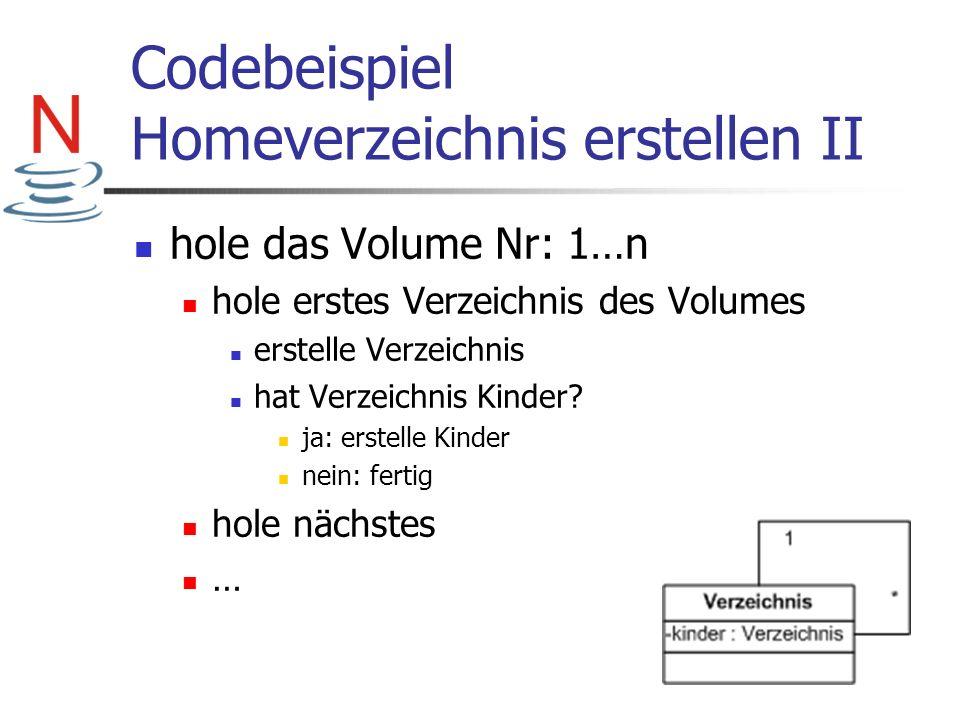 Codebeispiel Homeverzeichnis erstellen II