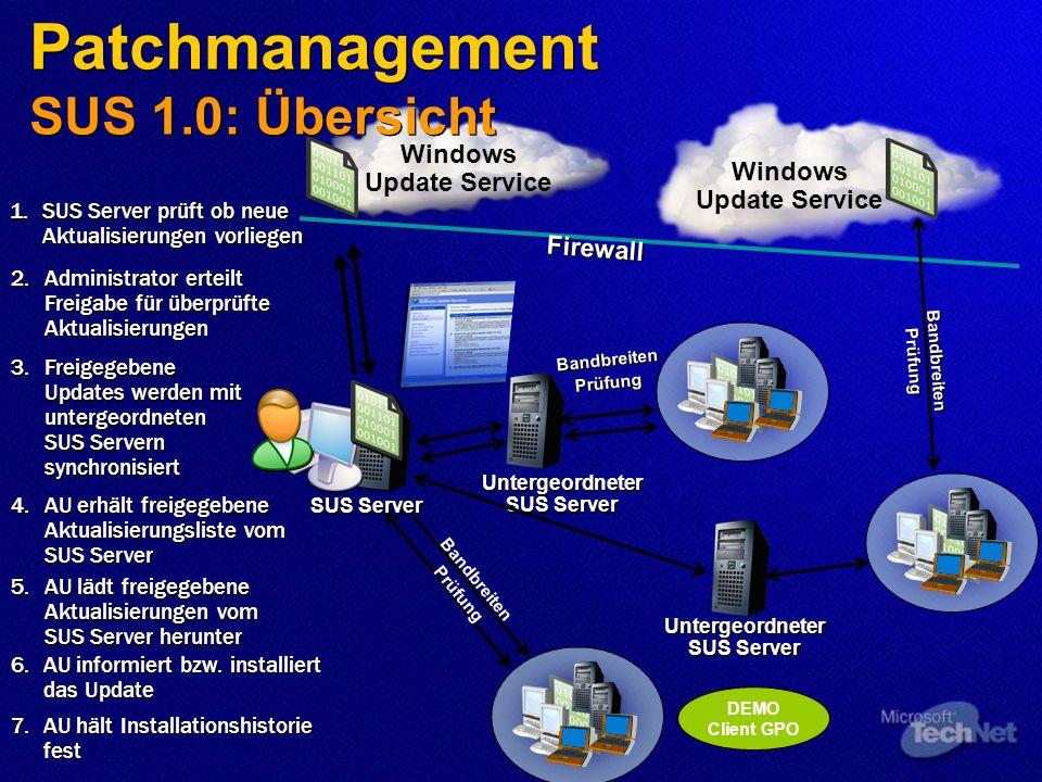Patchmanagement SUS 1.0: Übersicht