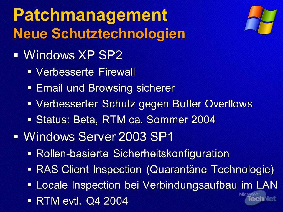 Patchmanagement Neue Schutztechnologien