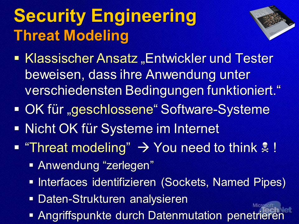 Security Engineering Threat Modeling