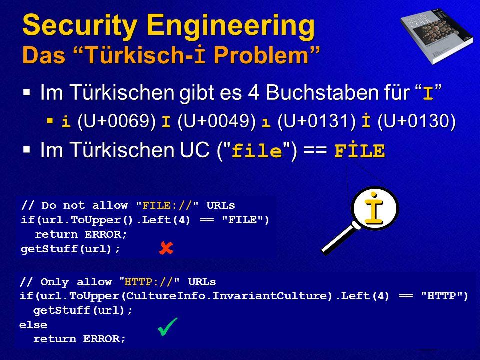 Security Engineering Das Türkisch-İ Problem