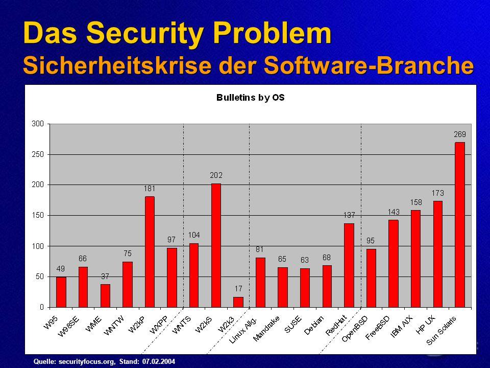 Das Security Problem Sicherheitskrise der Software-Branche