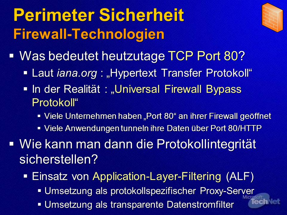 Perimeter Sicherheit Firewall-Technologien