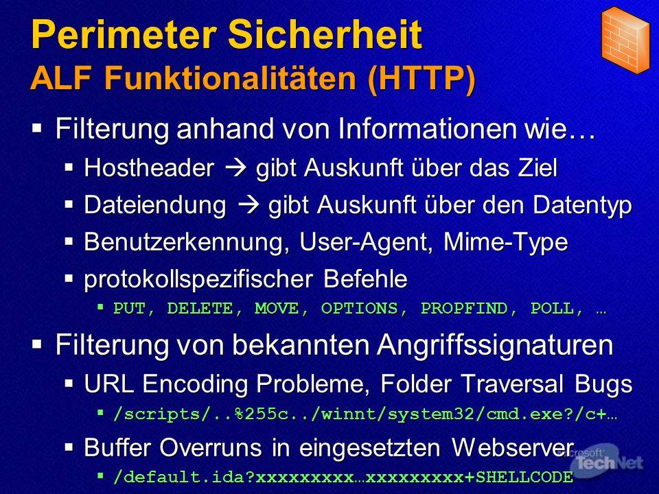 Perimeter Sicherheit ALF Funktionalitäten (HTTP)
