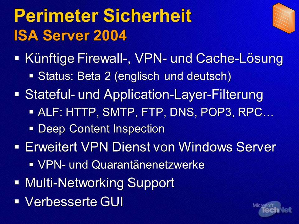 Perimeter Sicherheit ISA Server 2004