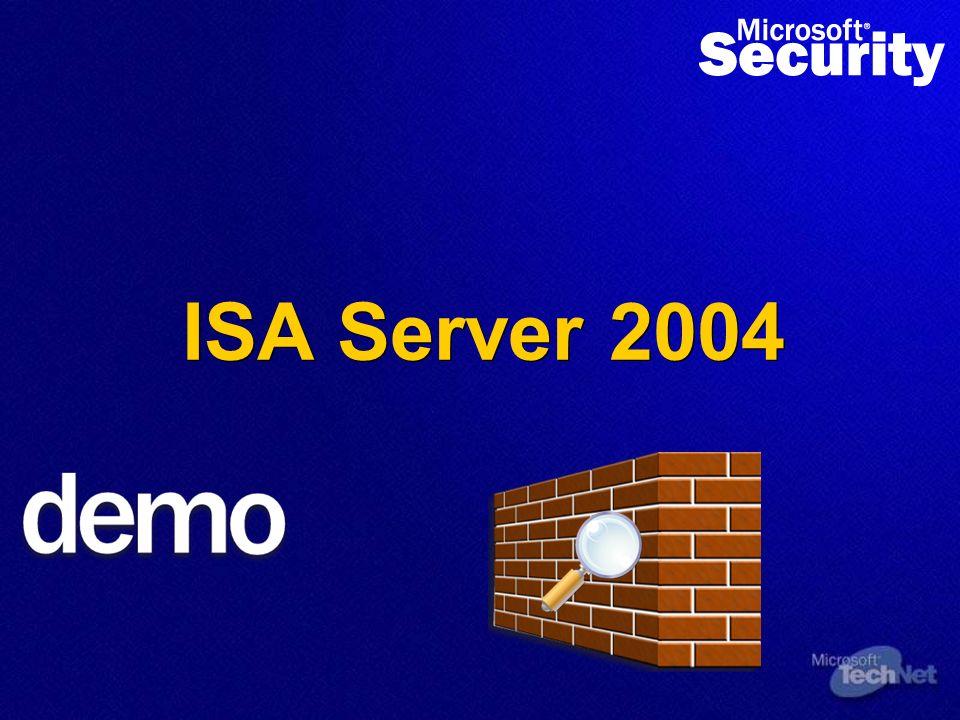 Microsoft Sicherheitstechnologien ISA Server 2004