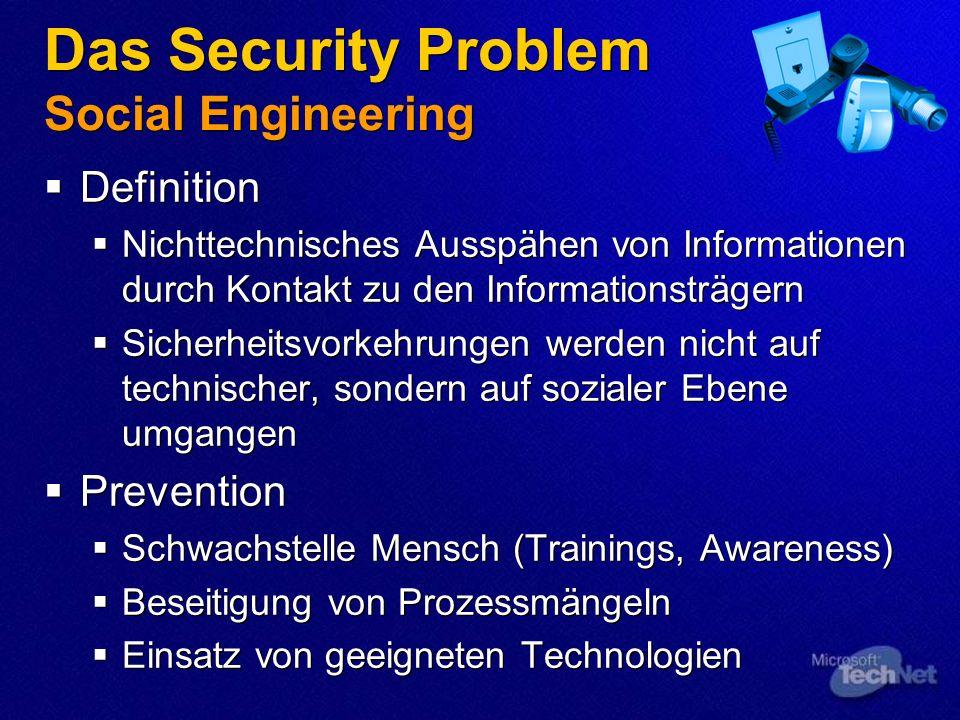 Das Security Problem Social Engineering