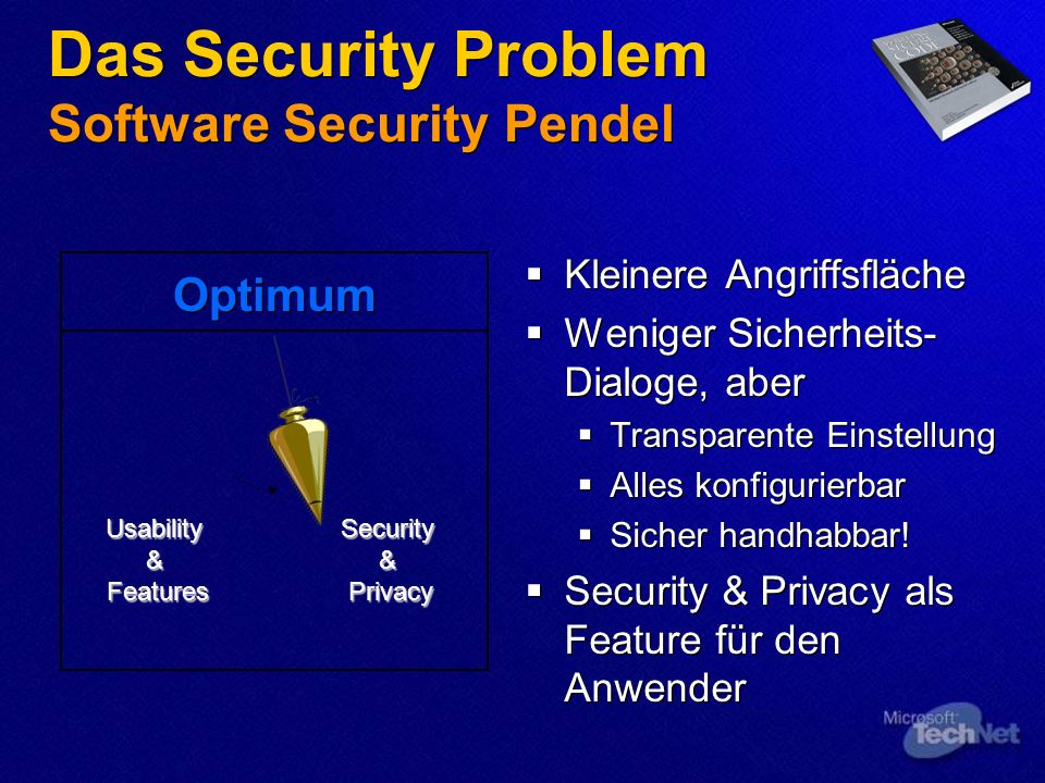 Das Security Problem Software Security Pendel