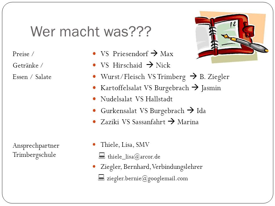 Wer macht was VS Priesendorf  Max VS Hirschaid  Nick