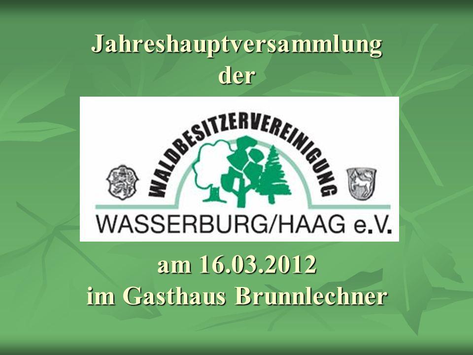 Jahreshauptversammlung der am 16.03.2012 im Gasthaus Brunnlechner