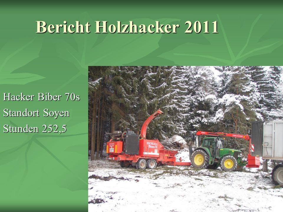 Bericht Holzhacker 2011 Hacker Biber 70s Standort Soyen Stunden 252,5