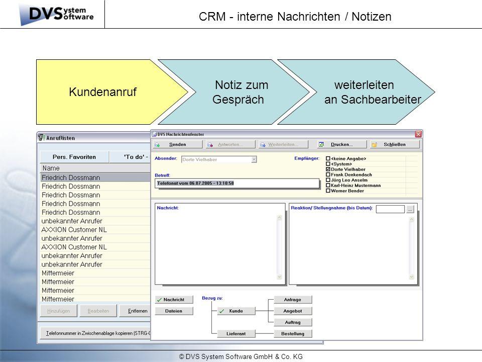 CRM - interne Nachrichten / Notizen