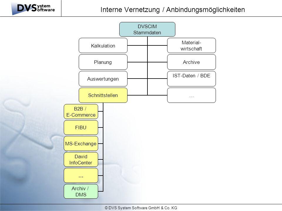 Interne Vernetzung / Anbindungsmöglichkeiten