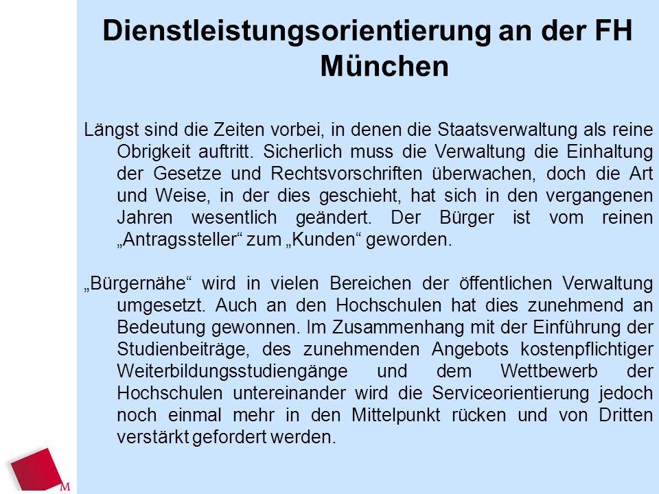 Dienstleistungsorientierung an der FH München