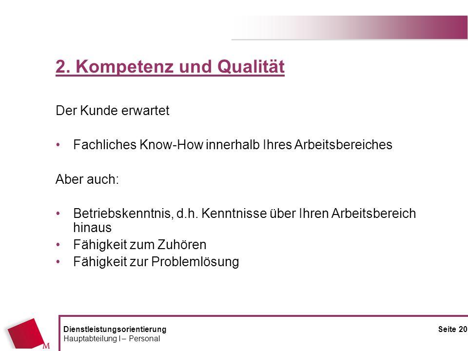 2. Kompetenz und Qualität