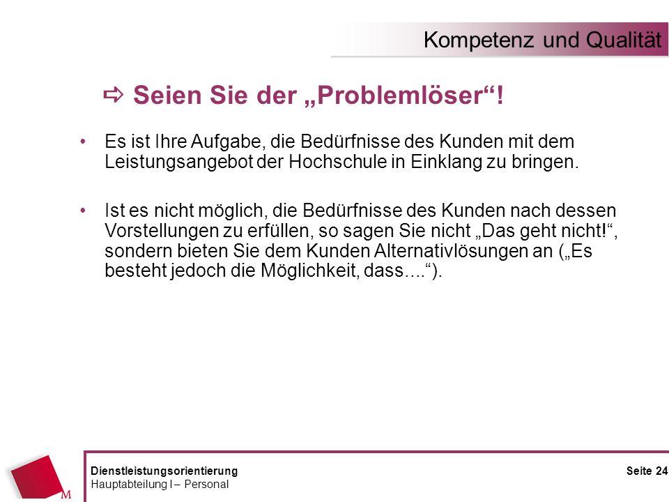 """a Seien Sie der """"Problemlöser !"""