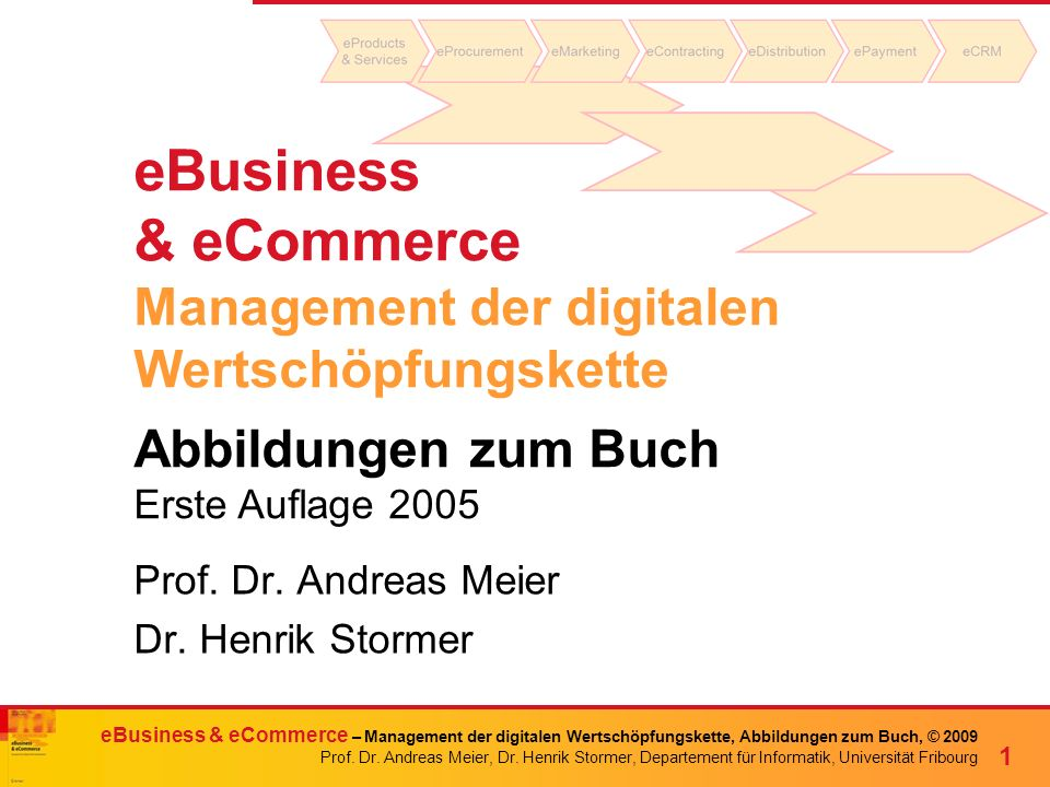 eBusiness & eCommerce Management der digitalen Wertschöpfungskette