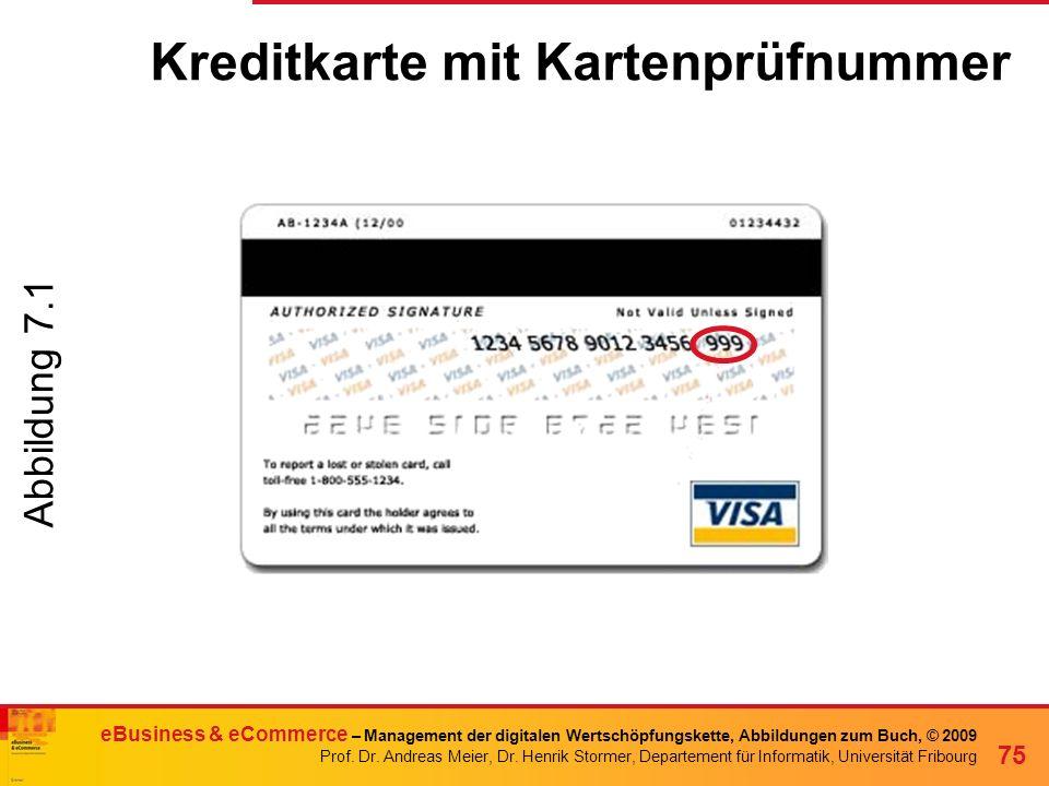 Kreditkarte mit Kartenprüfnummer