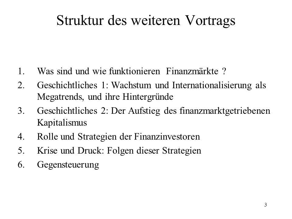 Struktur des weiteren Vortrags