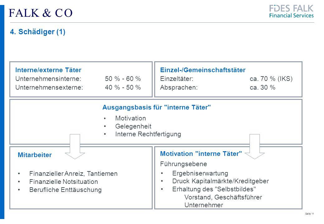 4. Schädiger (1) Interne/externe Täter Einzel-/Gemeinschaftstäter