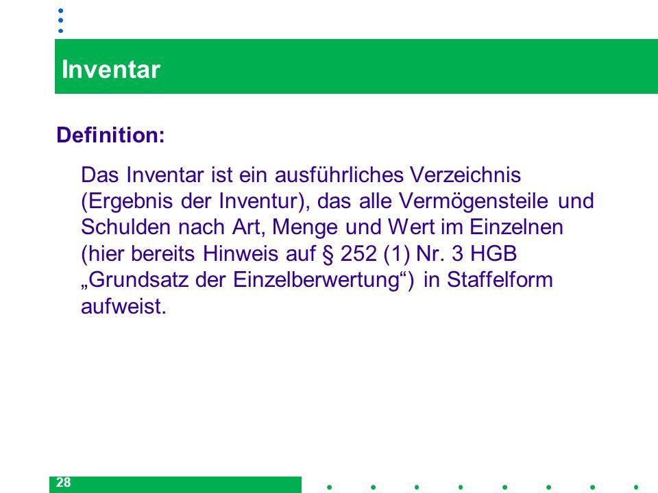 InventarDefinition: