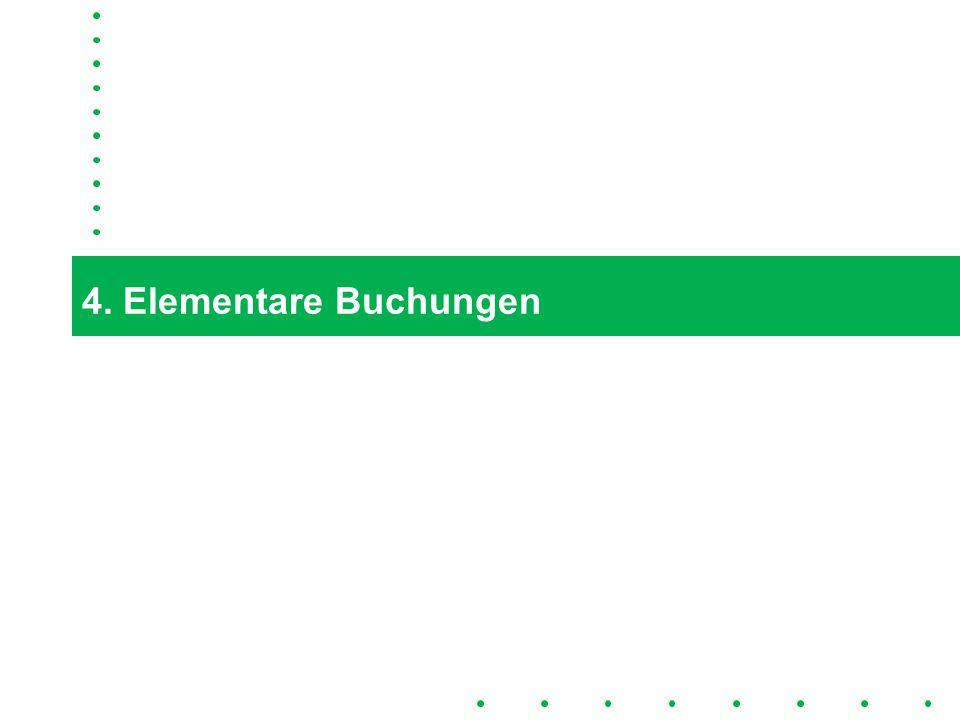 4. Elementare Buchungen