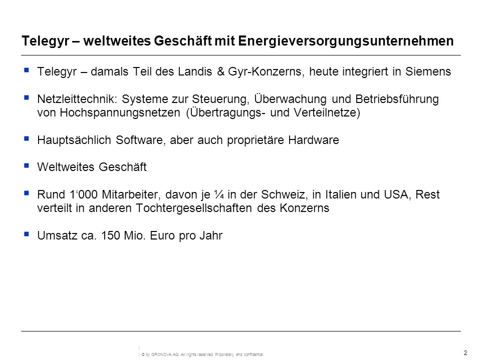 Telegyr – weltweites Geschäft mit Energieversorgungsunternehmen