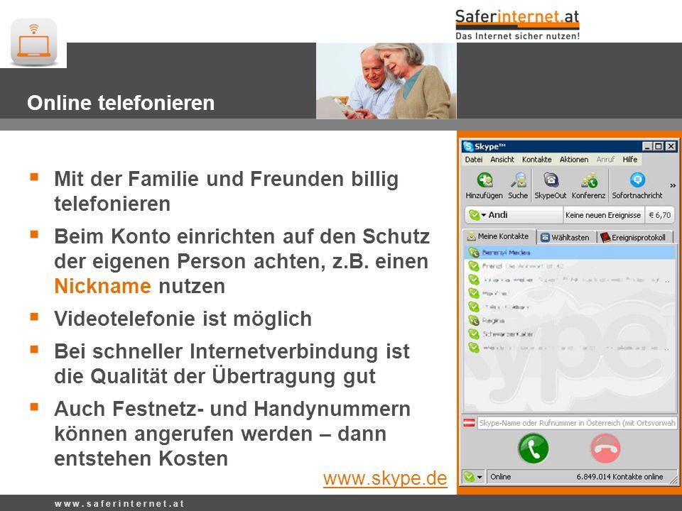 Skype – Online Telefonieren