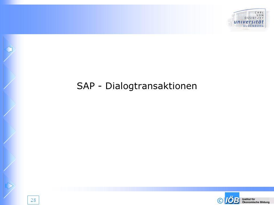 SAP - Dialogtransaktionen