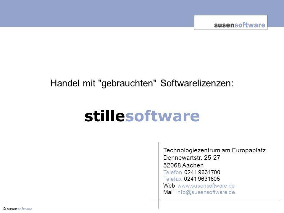 Handel mit gebrauchten Softwarelizenzen: