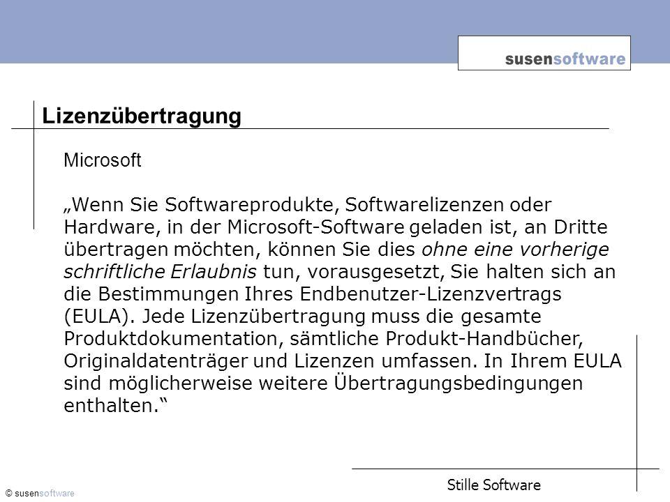 Lizenzübertragung Microsoft