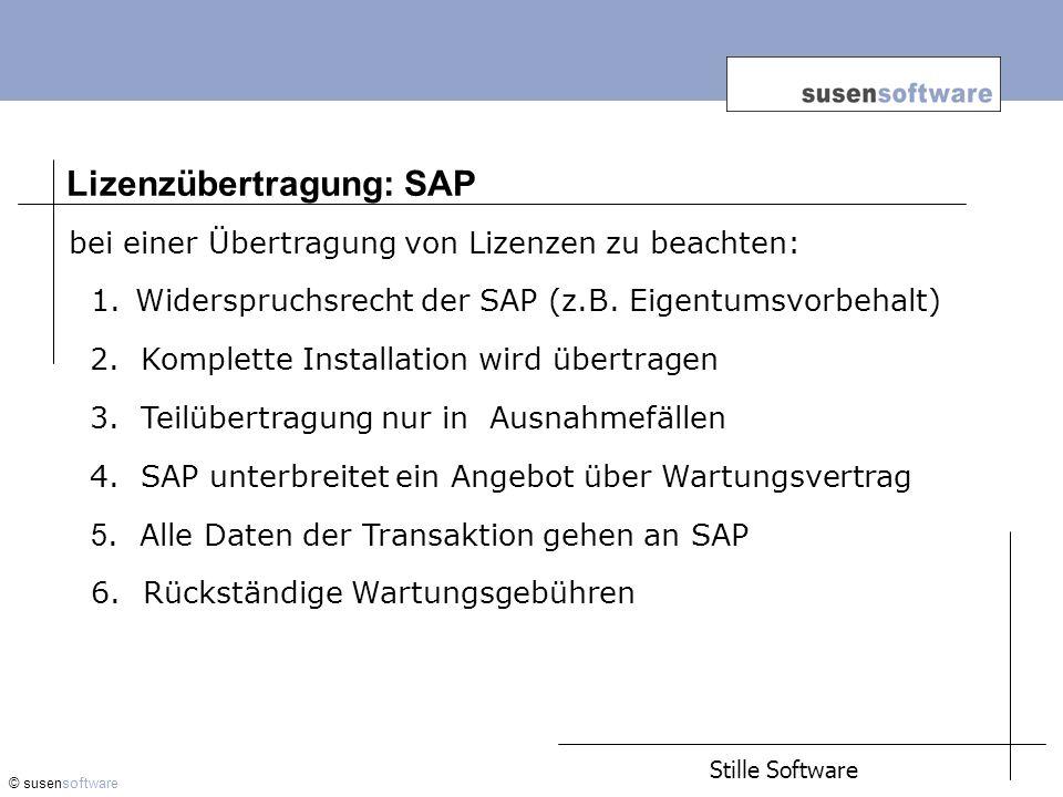 Lizenzübertragung: SAP