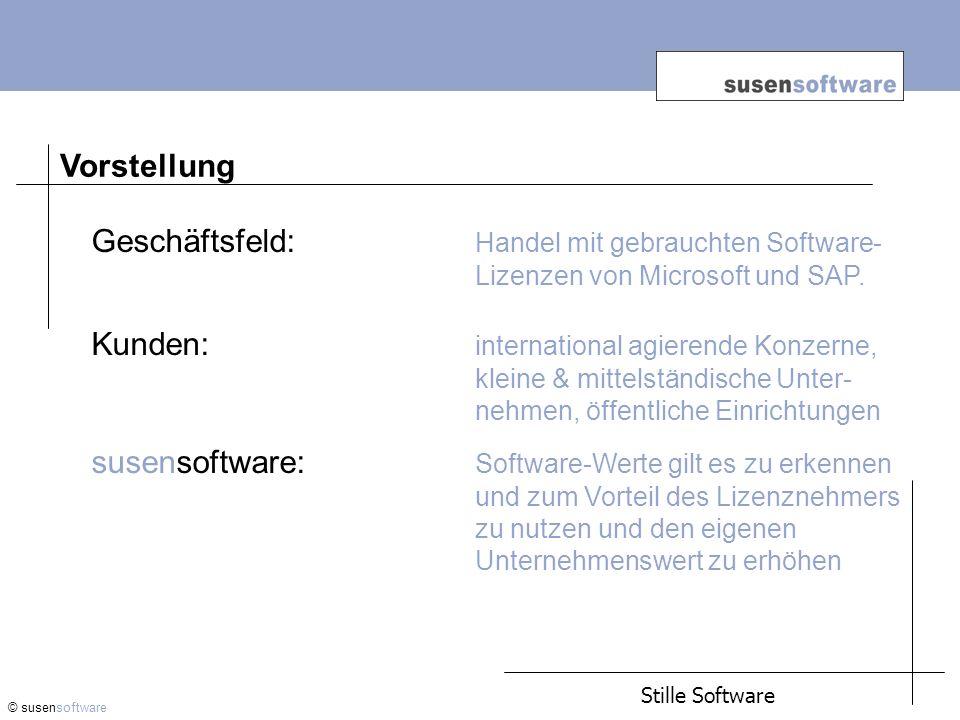 Vorstellung. Geschäftsfeld: Handel mit gebrauchten Software- Lizenzen von Microsoft und SAP.