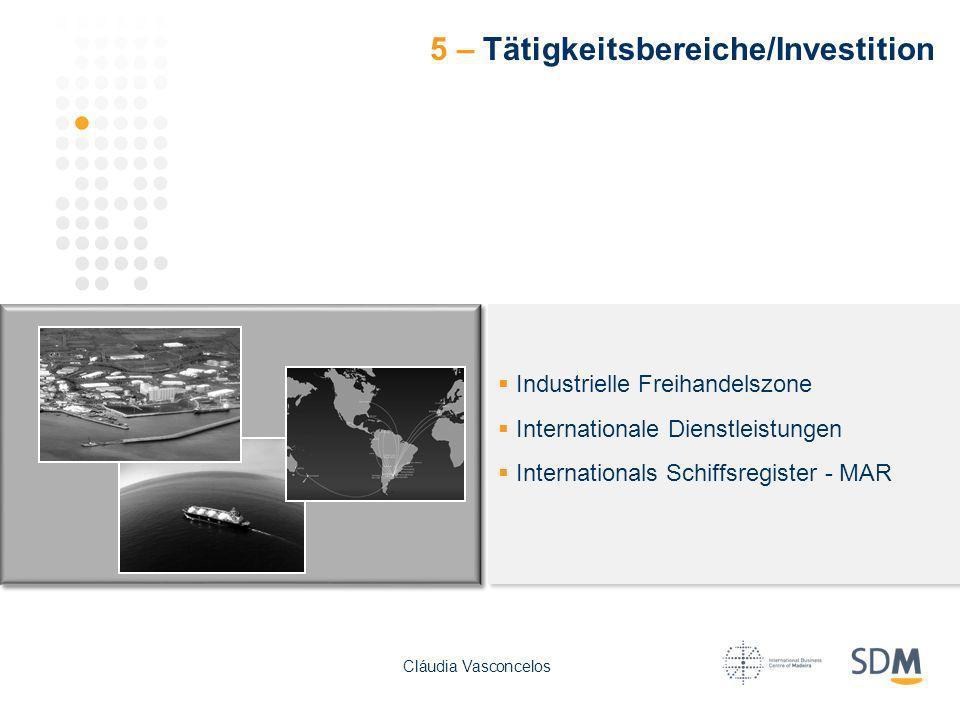 5 – Tätigkeitsbereiche/Investition