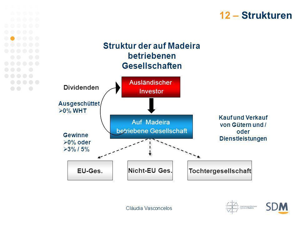 12 – Strukturen Struktur der auf Madeira betriebenen Gesellschaften