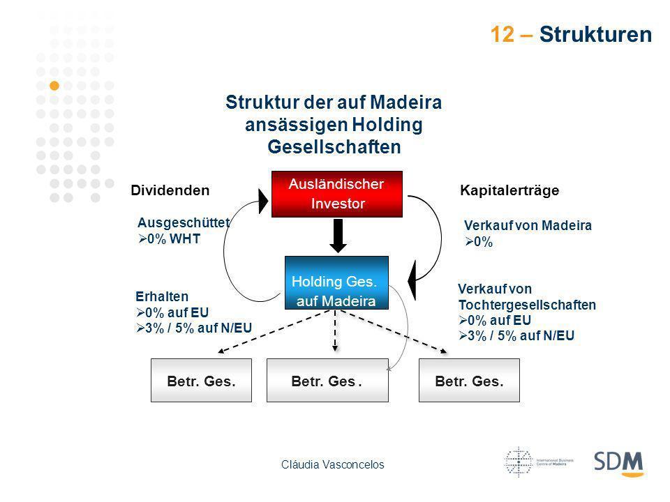 Struktur der auf Madeira ansässigen Holding Gesellschaften