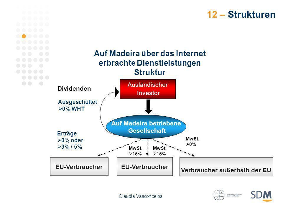 12 – Strukturen Auf Madeira über das Internet erbrachte Dienstleistungen. Struktur. Ausländischer.