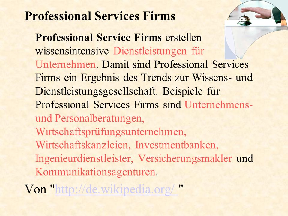 Professional Services Firms